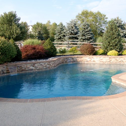 Brick coping, stone walls, and fertilizer are sources of stain-causing metals.