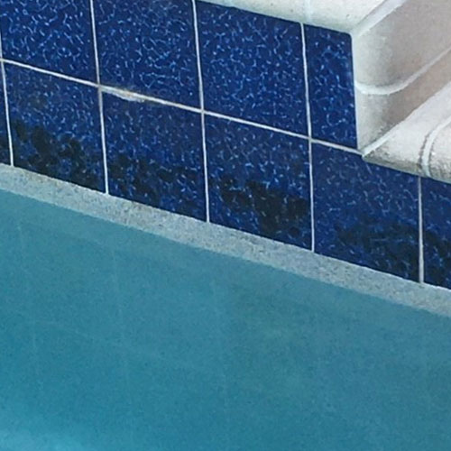 Manganese stains on sapphire breeze tiles