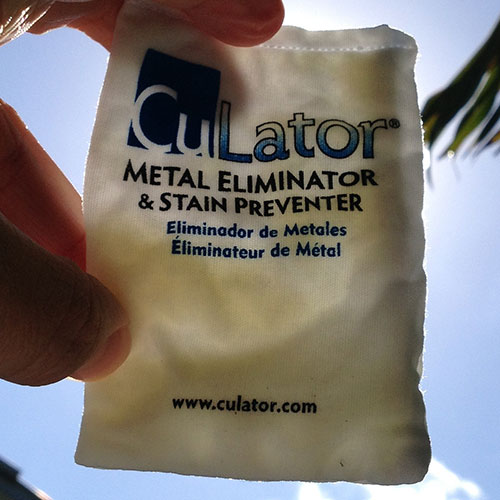 CuLator Traps Iron From Swimming Pool